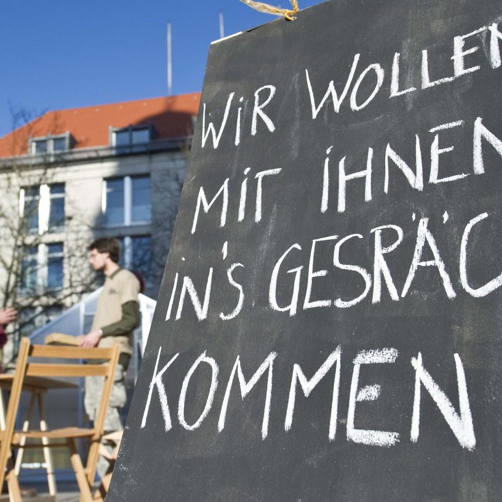 made in Festival. Im Bild: Die auratische Stadt auf dem Hugenottenplatz in Erlangen. Foto: Uwe Niklas 02.04.2011